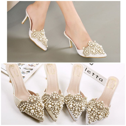 SH2582 IDR.260.000 MATERIAL PU HEEL 8.5CM COLOR SILVER SIZE 35,36,37,38,39