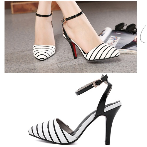 SH2652 IDR.205.000 MATERIAL PU HEEL 10CM COLOR WHITE SIZE 35,36,37,38,39