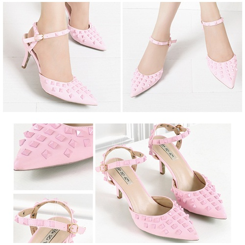 SH3152 IDR.252.000 MATERIAL PU-HEEL-8CM COLOR PINK SIZE 35,37,38,39