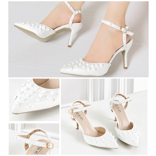 SH3152 IDR.252.000 MATERIAL PU-HEEL-8CM COLOR WHITE SIZE 35,36,37,38,39