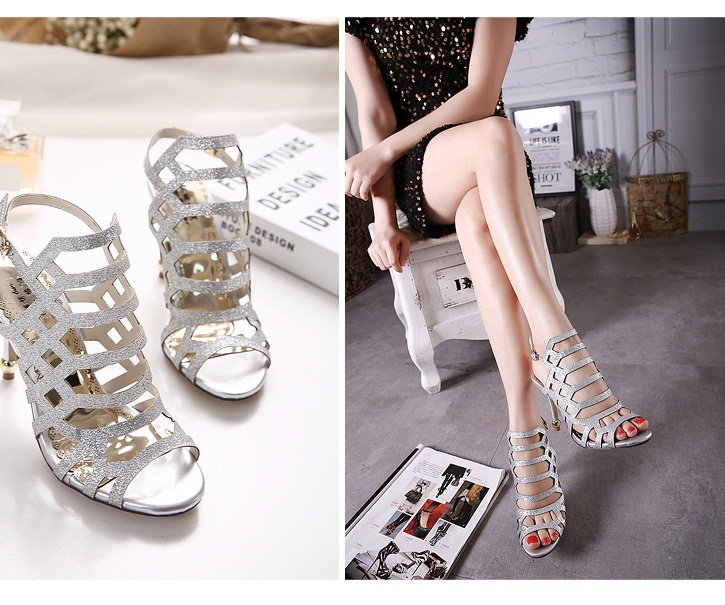 SH31861 IDR.205.000 MATERIAL PU-HEEL-10CM COLOR SILVER SIZE 35,36,37,38,39