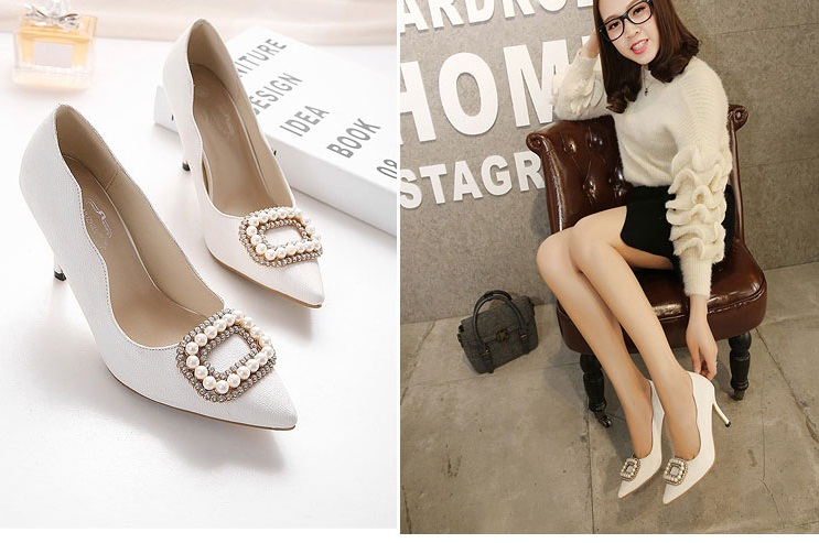 SH3381 IDR.210.000 MATERIAL PU-HEEL-12.5CM COLOR WHITE SIZE 35,36,37,39