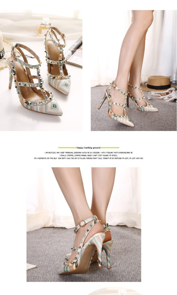 SH3383 IDR.255.000 MATERIAL PU-HEEL-10.5CM COLOR GREEN SIZE 35,36,37,38,39