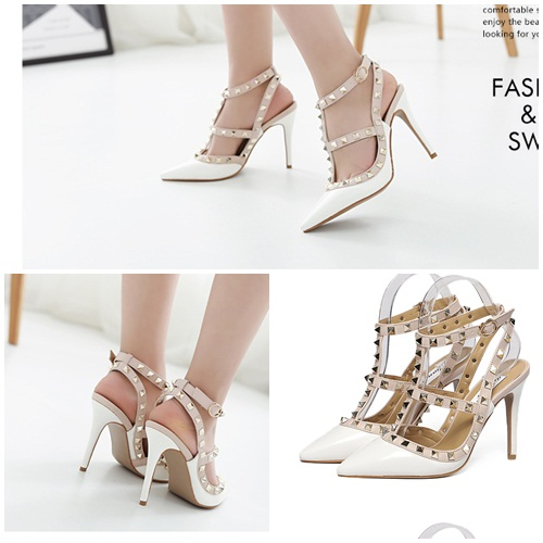 SH37011 IDR.255.000 MATERIAL PU-HEEL-10CM COLOR WHITE SIZE 35,36,37,38,39
