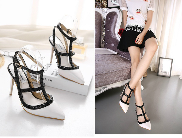 SH37017 IDR.255.000 MATERIAL PU-HEEL-10.5CM COLOR WHITE SIZE 35,36,37,39
