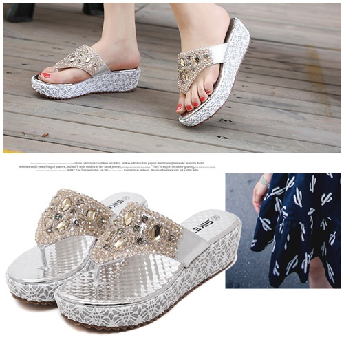 SH381 IDR.225.000 MATERIAL PU-HEEL-5CM COLOR SILVER SIZE 36