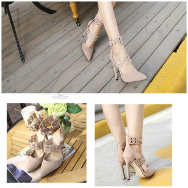SH418 IDR.250.000 MATERIAL SUEDE-HEEL-11CM COLOR APRICOT SIZE 36,37,38,39