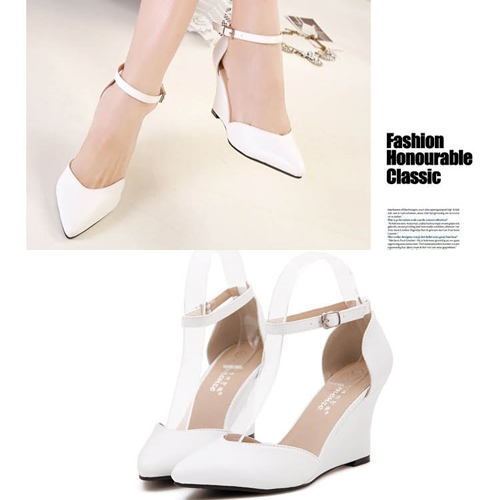 SH4406 IDR.2O8.OOO MATERIAL PU HEEL 8CM COLOR BLACK,WHITE SIZE 36,37,38,39 (2)