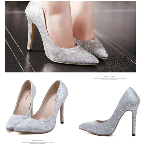 SH5100 IDR.236.000 HEEL 11CM COLOR SILVER SIZE 35,36,37,38,39