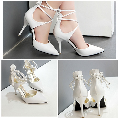 SH5203 IDR.235.000 MATERIAL PU-HEEL-9CM COLOR WHITE SIZE 36,37,38,39