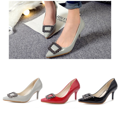 SH52860 IDR.214.000 MATERIAL PU-HEEL-7CM COLOR GRAY SIZE 35,36,37,38,39