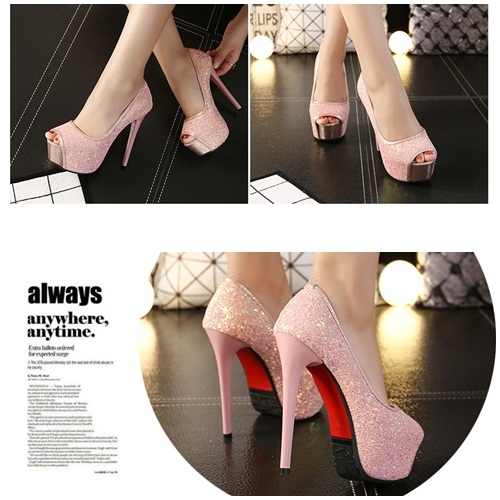 SH56077 IDR.238.000 MATERIAL PU-HEEL-13.5CM COLOR PINK SIZE 36,37,38,39