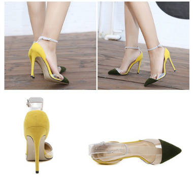 SH5625 IDR.220.000 MATERIAL SUEDE-HEEL-11CM COLOR YELLOW SIZE 36,37,38,39