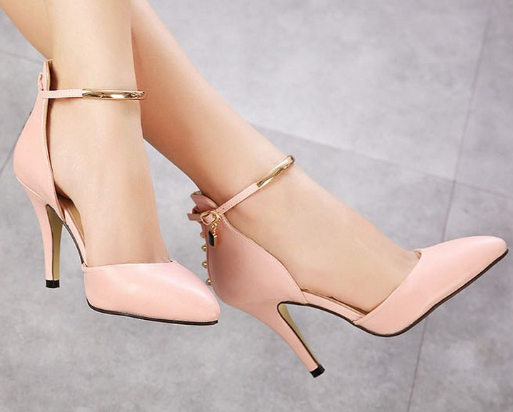 SH5758 IDR.210.000 MATERIAL PU-HEEL-9CM COLOR PINK SIZE 35,36,37,38,39