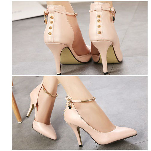 SH5759 IDR.220.000 MATERIAL PU HEEL 9CM COLOR PINK SIZE 35,36,37,38,39