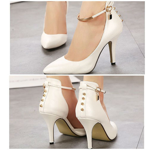 SH5759 IDR.220.000 MATERIAL PU HEEL 9CM COLOR WHITE SIZE 35,36,37,38,39