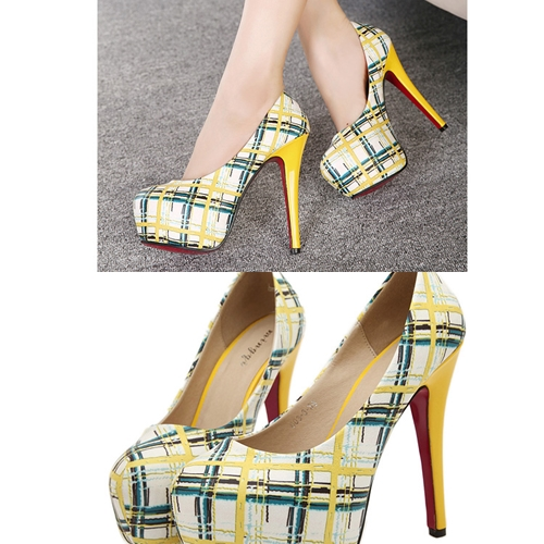 SH6033 IDR.2O8.OOO MATERIAL PU HEEL 4.5CM,14.5CM COLOR YELLOW SIZE 36,37,38,39