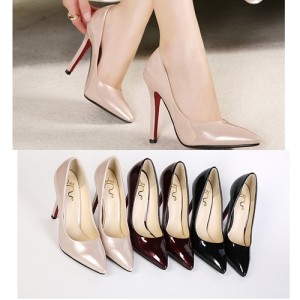 SH6136 IDR.215.OOO MATERIAL PU HEEL 11.5CM COLOR BLACK,PINK,WINE SIZE 36,37,38,39 (1)