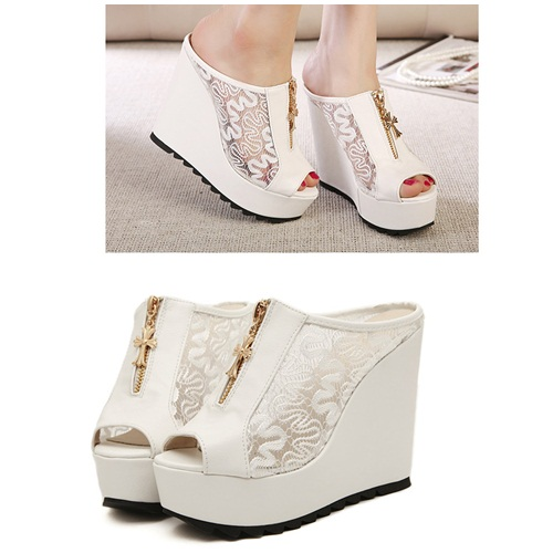 SH6202 IDR.215.000 MATERIAL LACE-HEEL-12CM COLOR WHITE SIZE 36,37,38,39