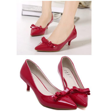 SH6335 IDR.198.000 MATERIAL PU-HEEL-5.5CM COLOR RED SIZE 35,36,37,38,39