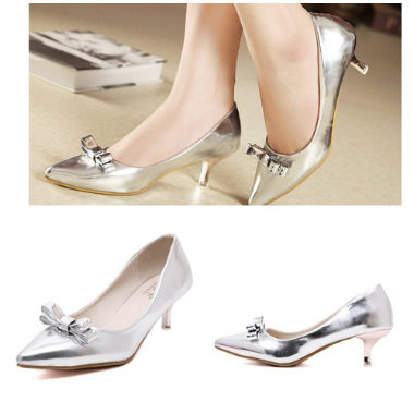 SH6335 IDR.198.000 MATERIAL PU-HEEL-5.5CM COLOR SILVER SIZE 35,36,37,38,39