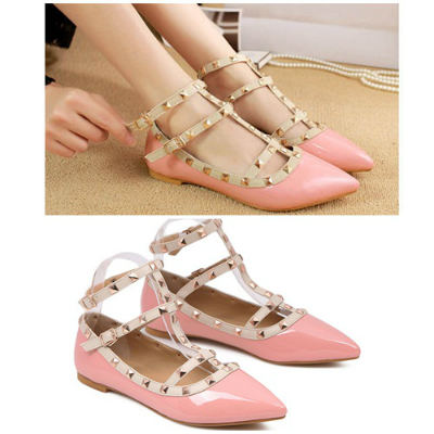 SH72672 IDR.210.000 MATERIAL PU-HEEL-1.5CM COLOR PINK SIZE 35,36,37,38,39