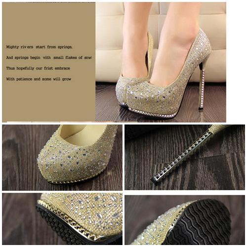 SH8132 IDR.265.000 MATERIAL PU HEEL 4CM,13.5MC COLOR GOLD SIZE 36,37,38,39