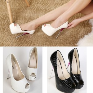 SH8238 IDR.222.OOO MATERIAL PU HEEL 4CM,14CM COLOR BLACK,WHITE SIZE 36,37,38,39 (2)