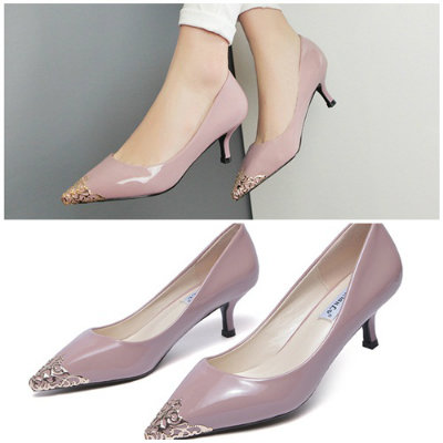 SH8386 IDR.228.000 MATERIAL PU-HEEL-5CM COLOR PURPLE SIZE 36,37,38,39