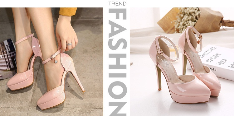 SH87811 IDR.210.000 MATERIAL PU-HEEL-12CM COLOR PINK SIZE 35,36,37,38,39