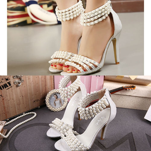 SH8815 IDR.269.000 MATERIAL PU HEEL 11CM COLOR SILVER SIZE 35,36,37,38,39