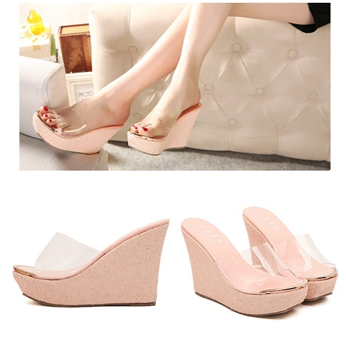 SH8996 IDR.205.000 MATERIAL TRANPARENT PU HEEL 4CM,11CM COLOR PINK SIZE 36,37,38,39