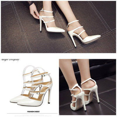 SH98313 IDR.215.000 MATERIAL PU-HEEL-12CM COLOR WHITE SIZE 36,37,38,39,40