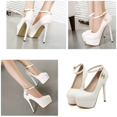 SH9998 IDR.225.000 MATERIAL PU-HEEL-5CM,14CM COLOR WHITE SIZE 35,37