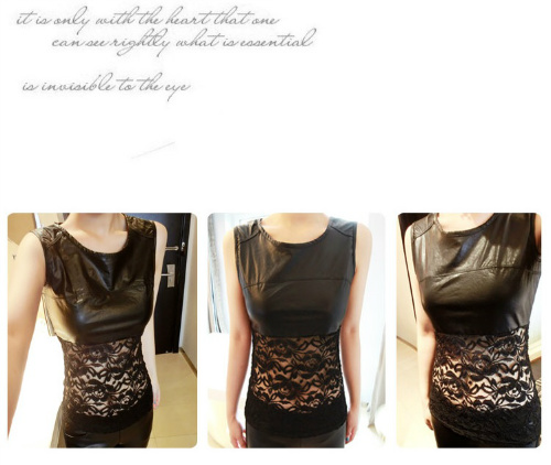 T1946 IDR.95.000 MATERIAL LACE+PU-LENGTH-55CM-BUST-86CM WEIGHT 230GR COLOR ASPHOTO