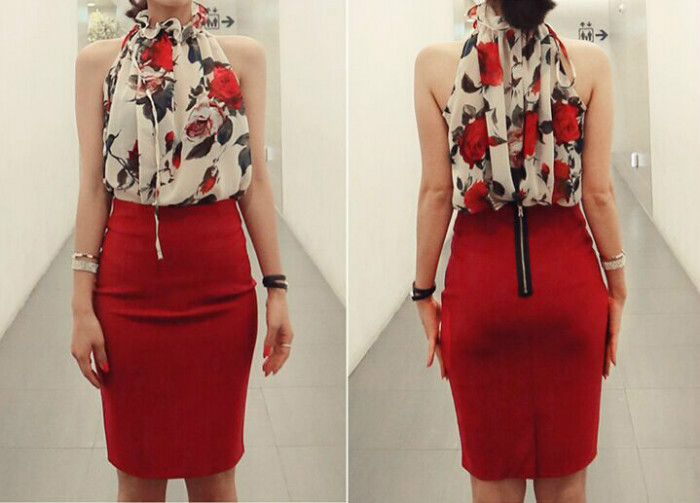 T37950 IDR.105.000 MATERIAL CHIFFON LENGTH57CM-BUST112CM WEIGHT 150GR COLOR WHITE