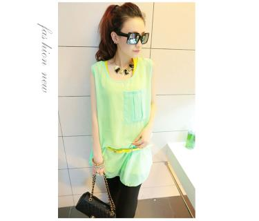 T3842 IDR.11O.OOO MATERIAL COTTON+CHIFFON-LENGTH-INNER-64CM-OUTER-76CM-BUST-96CM-(WITH-BELT) WEIGHT 230GR COLOR GREEN