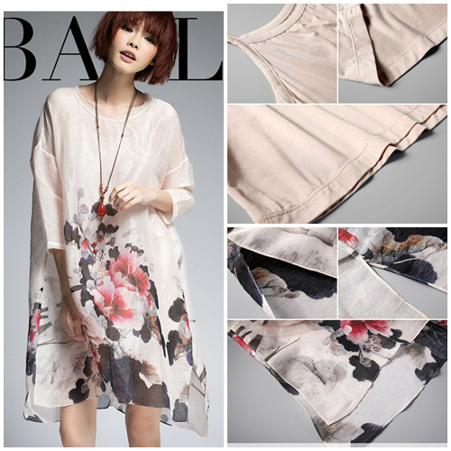 T52102 IDR.178.000 MATERIAL SILK+COTTON-LENGTH81-97CM-BUST122CM WEIGHT 240GR COLOR ASPHOTO