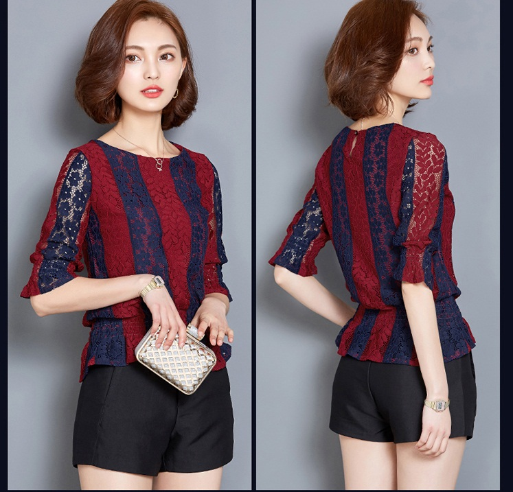 T52317 IDR.132.000 MATERIAL LACE-LENGTH58CM-BUST92CM WEIGHT 230GR COLOR RED