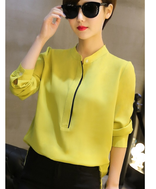 T6465 IDR.112.000 MATERIAL CHIFFON-SIZE-M,L-LENGTH64,65CM-BUST96,100CM WEIGHT 220GR COLOR YELLOW