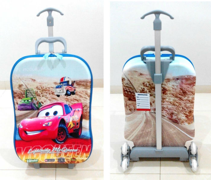 TA013 Tas Troli 3D Anak Sekolah Cars 2in1 Size 32x12x40cm