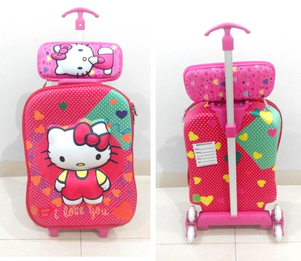 TA036 IDR 220.000 Tas Troli 3D Anak Sekolah Hello Kitty 2in1 Size 32x12x40cm.jpg