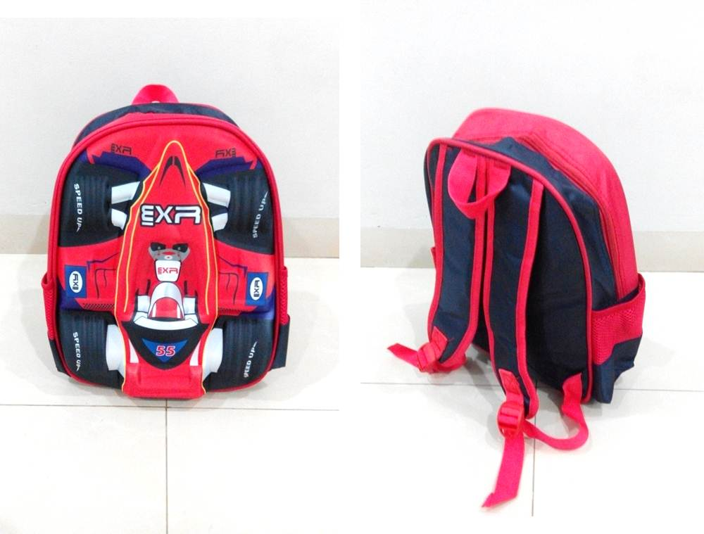 TR001 IDR 90.000 Tas Ransel Formula 1 SIZE L29XW12XH32CM WEIGHT 400GR COLOR RED