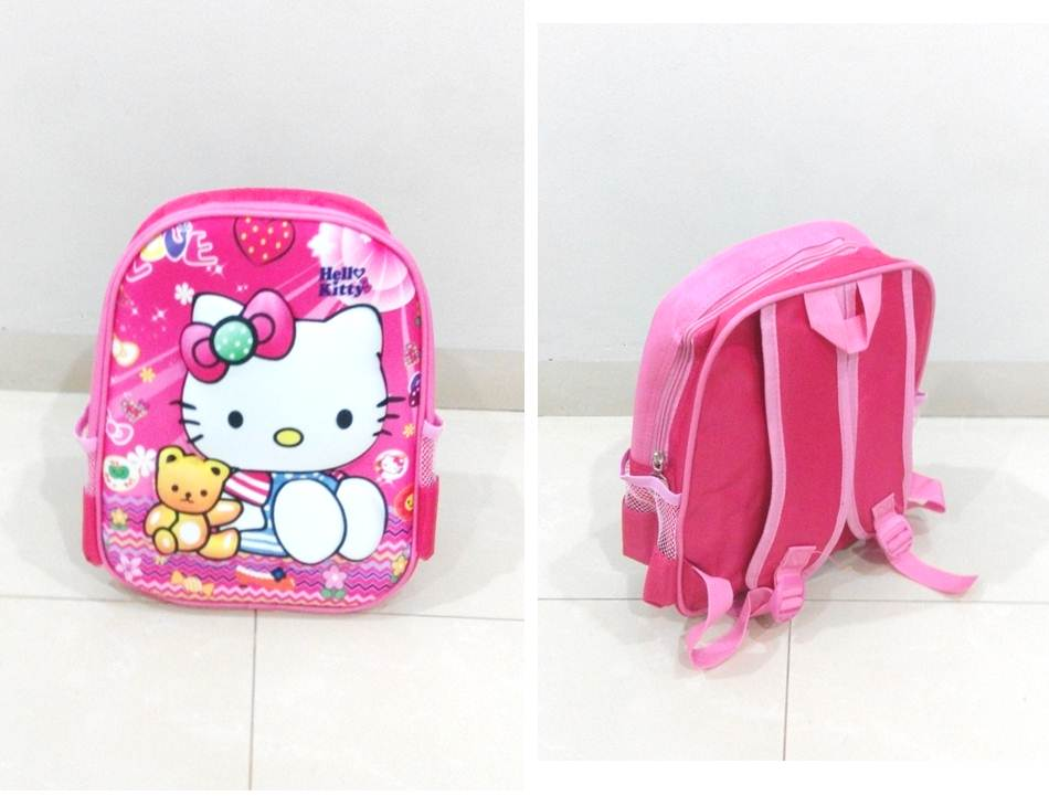 TR004 IDR 90.000 Tas Ransel Hello Kitty SIZE L29XW12XH32CM WEIGHT 400GR COLOR PINK