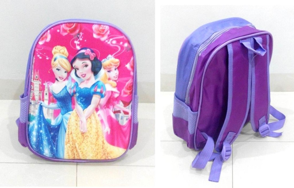 TR005 IDR 90.000 Tas Ransel Princess SIZE L29XW12XH32CM WEIGHT 400GR COLOR PURPLE