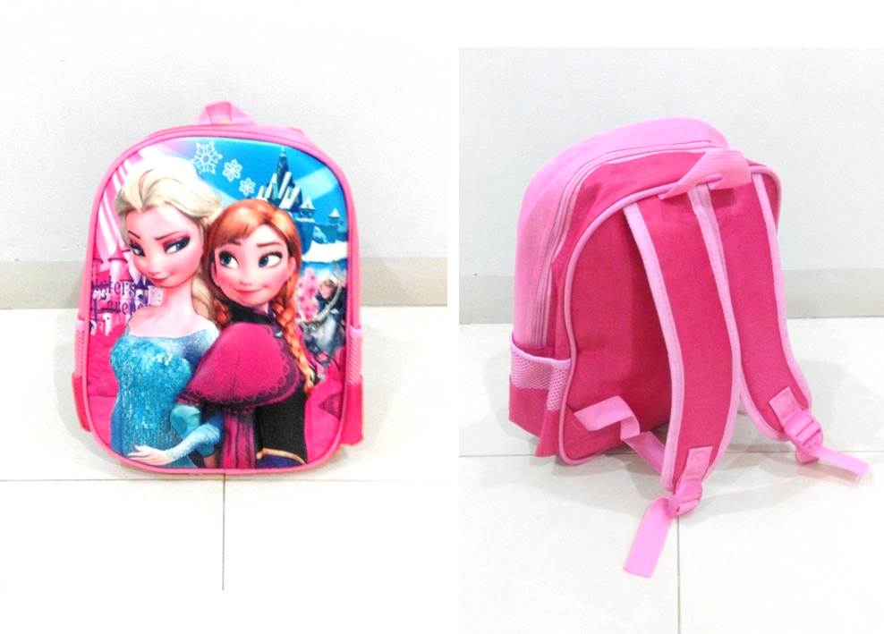 TR006 IDR 90.000 Tas Ransel Frozen SIZE L29XW12XH32CM WEIGHT 400GR COLOR PINK